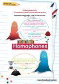 Verbal reasoning worksheet: Homophones and homographs practice