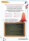 Verbal reasoning worksheet: Letter code-breaking practice