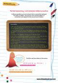 Verbal reasoning worksheet: Link between letters practice
