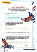 Verbal reasoning worksheet: Logical deduction practice
