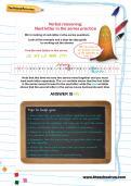 Verbal reasoning worksheet: Next letter in the series practice