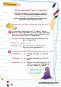 Verbal reasoning worksheet: Word connections