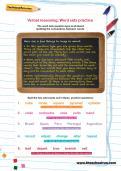 Verbal reasoning worksheet: Word sets practice