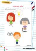 Victorious verbs worksheet