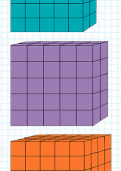 Working out the volume of 3D shapes by counting blocks tutorial