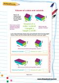 Volume of cubes and cuboids worksheet