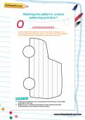 Washing line patterns cursive patterning practice worksheets