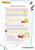 Weight problems challenge worksheet