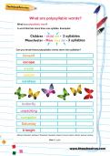 What are polysyllabic words worksheet