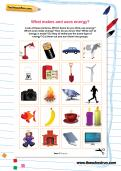 What makes and uses energy worksheet