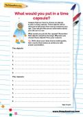 What would you put in a time capsule worksheet