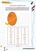 Word bank: powerful verbs worksheet