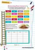 Word sorting (Phase 3 phonics) worksheet