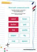 Word split: compound words puzzle