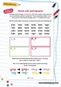 Word with split digraphs worksheet