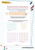Working out area by counting squares worksheet