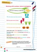 Working with numbers: alien investigation worksheet