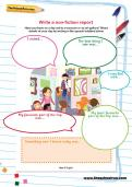 Write a non-fiction report worksheet