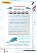 Write full sentences worksheet