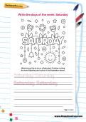 Write the days of the week: Saturday