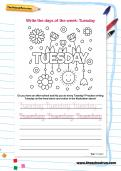 Write the days of the week: Tuesday