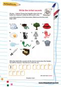 Write the initial sounds worksheet