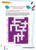 Write your own homonyms crossword puzzle