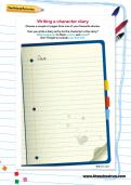 Writing a character diary worksheet