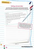 Writing an informal letter worksheet