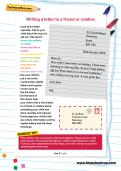 Writing a letter to a friend or relative worksheet