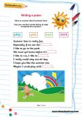 Writing a poem worksheet