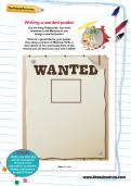 Writing a wanted poster worksheet