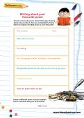 Writing about your favourite poem worksheet