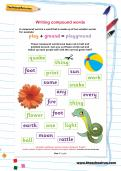 Writing compound words worksheet