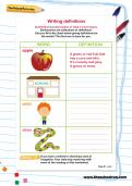 Writing definitions worksheet