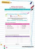 Writing direct speech worksheet