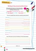 Writing in the present perfect tense worksheet