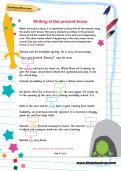 Writing in the present tense worksheet