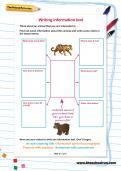 Writing information text worksheet