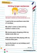 Writing longer sentences worksheet