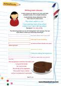Writing main clauses worksheet