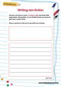Writing non-fiction worksheet