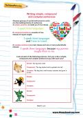Writing simple, compound and complex sentences worksheet
