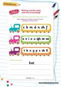 Writing words using phonics knowledge