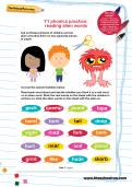 Y1 phonics practice: reading alien words worksheet
