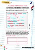 Y2 spelling: high frequency words worksheet