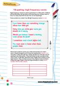 Y2 spelling: high frequency words worksheet
