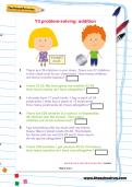 Y3 problem-solving: addition worksheet