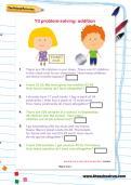 Y3 problem-solving: addition worksheet