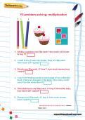Y3 problem-solving: multiplication worksheet